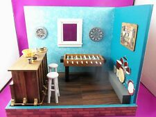 Dollhouse Miniature 1:12 Scale Bar/Rec Room Roombox Scenario