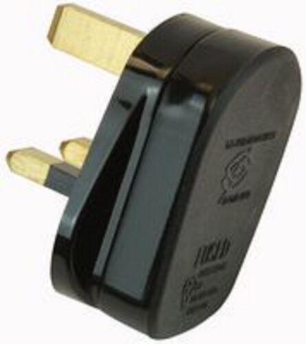 NEW 3 PIN MAINS SOCKET ADAPTOR PLUG FUSED ADAPTER UK THREE PIN PLUG 240V 13AMP