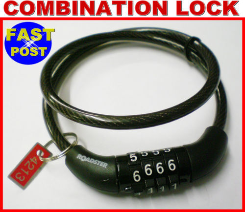 Combination Lock Bicycle Security Bike Wire Chain Padlock Mountain Racing Cable