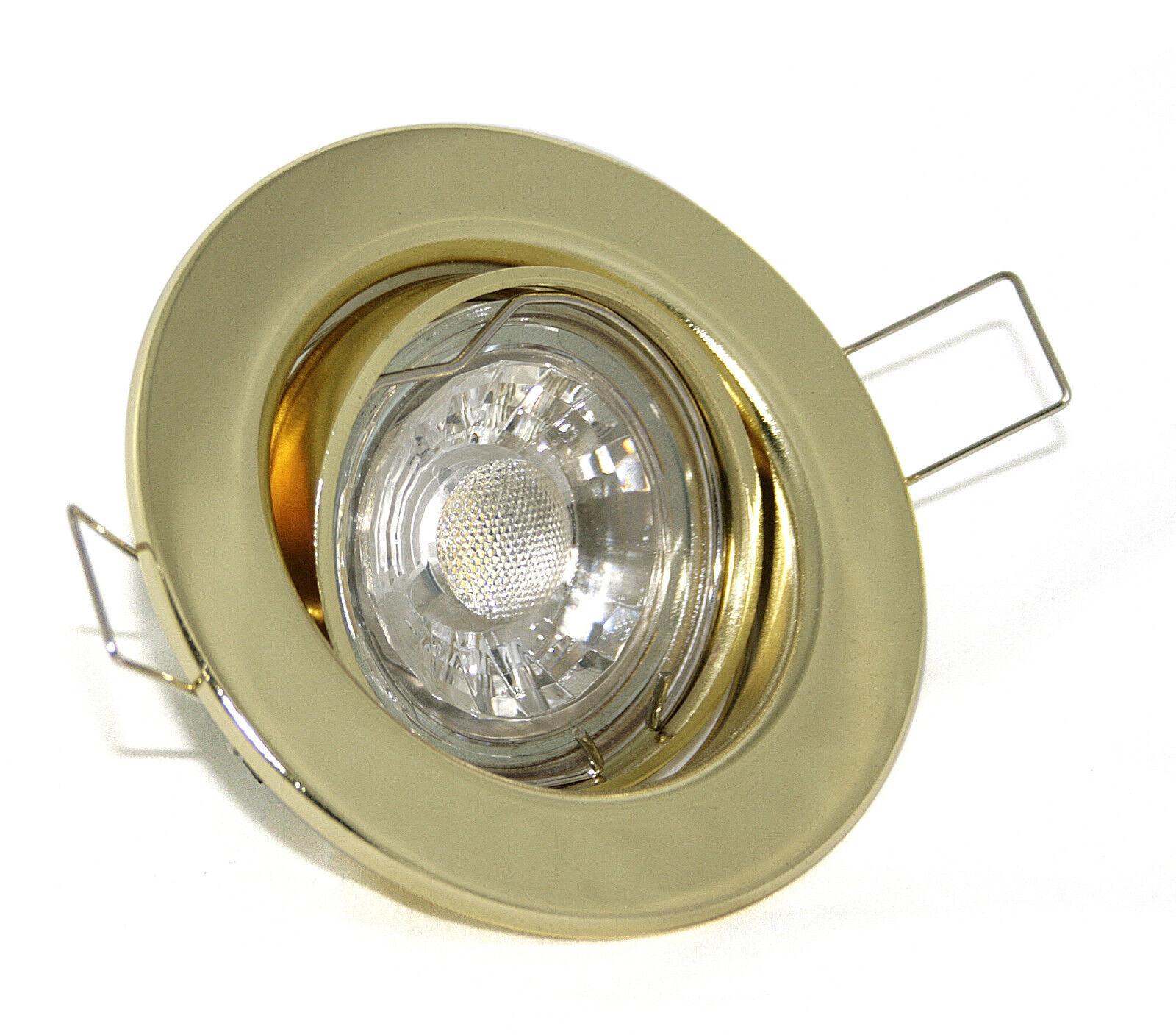 Runde Einbauleuchten K9222 Set Einbauspot GU10 LED 3W COB Einbaurahmen Strahler
