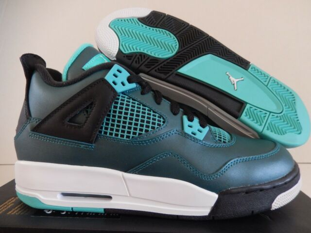 Air Jordan 4 Retro 30th Teal White Black Grade School Big Kids ... ebc5126ca