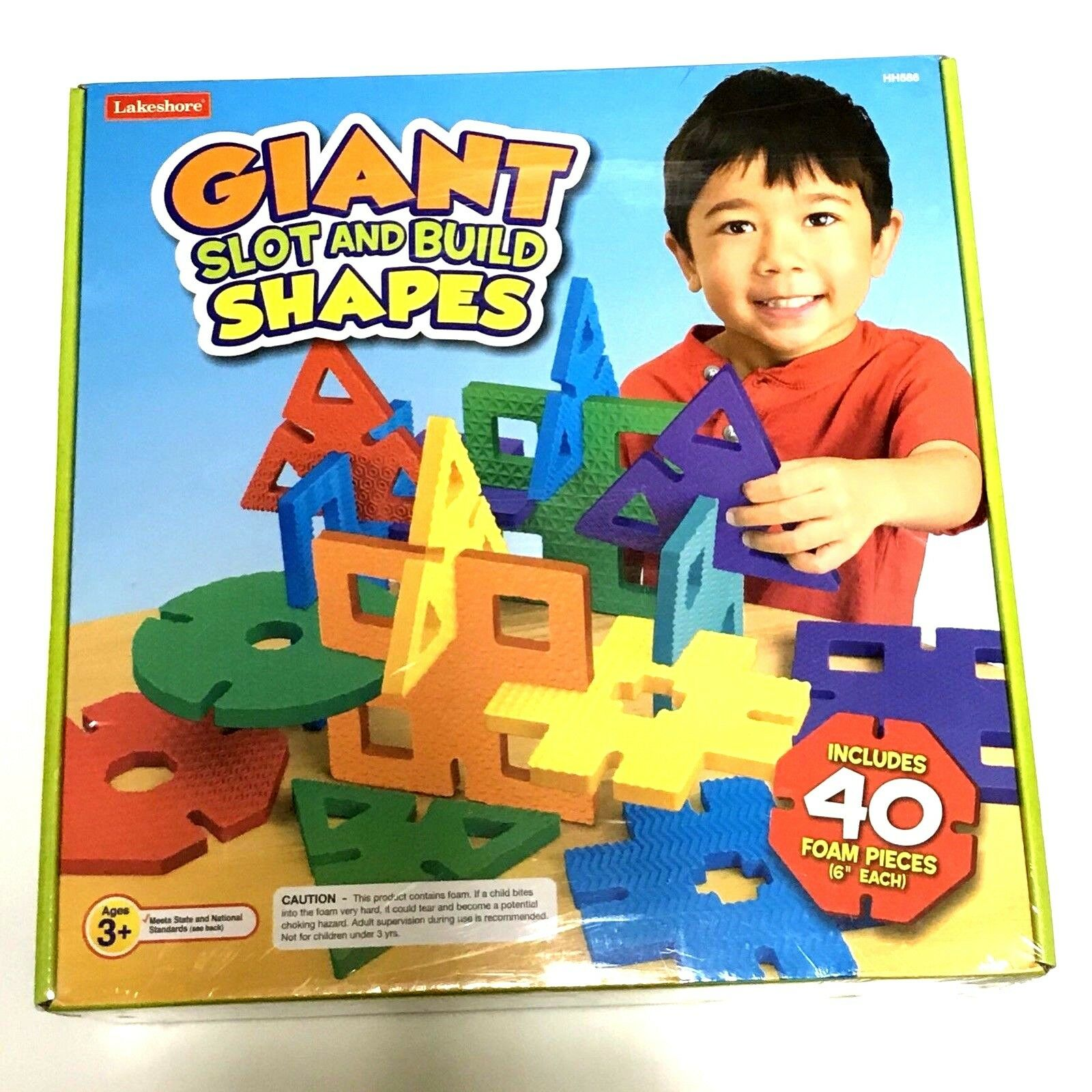 Lakeshore Giant Slot and Build Shapes Foam Building Toy 40 6