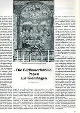 Weber, Bildhauer Sippe Papen a Giershagen Marsberg, Die Warte 84 Paderborn 1994