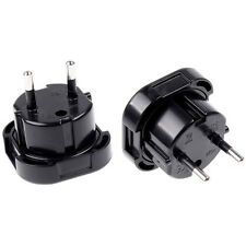 EU UK Euro-Stecker-Ladegerät AC-Adapter-Konverter-Buchse praktisch Schukostecker