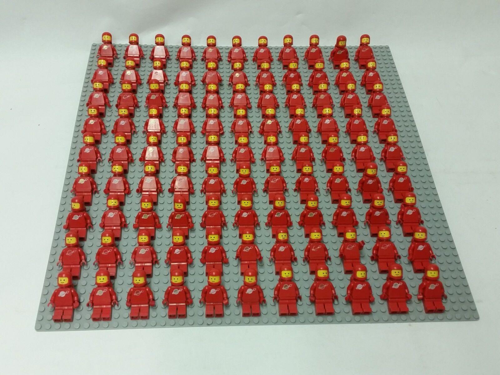 99 x LEGO CLASSIC COLOR rosso SPACE MINIFIGURES 70´s-80´s VINTAGE SET