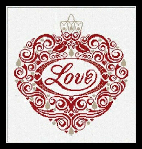 Alessandra Adelaide Needleworks Cross Stitch Chart 264 Love Ornament