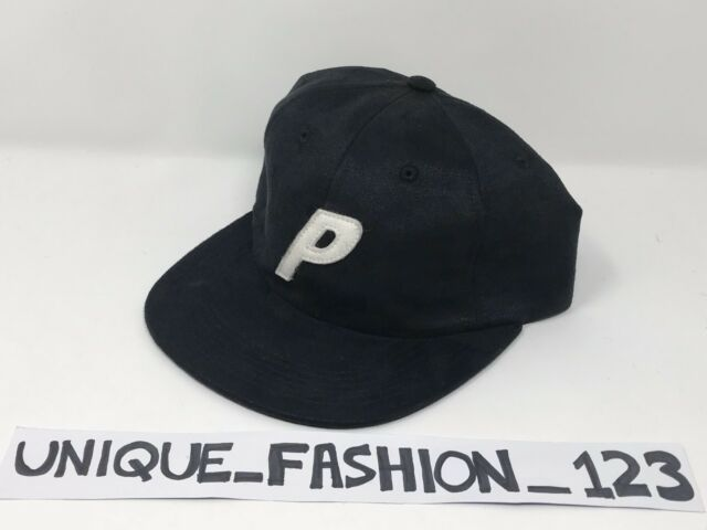 ff70e262446 Palace Skateboards Fw16 PAL Suedey Black Stadium 6 Panel Camp Cap P ...