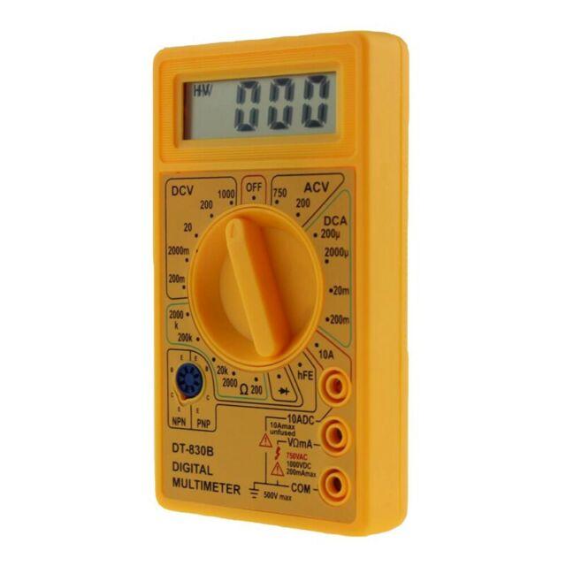 ANENG multimetro digital LCD DT-830B voltimetro electrico amperimetro ohmio H4Z8