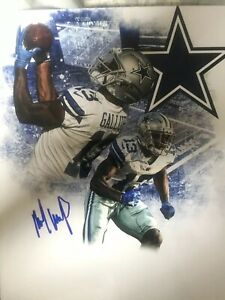 MICHAEL-GALLUP-SIGNED-DALLAS-COWBOYS-8x10-Photo-AUTographed-Gdst-Holo-F