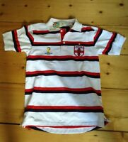 England Small Polo shirt Brazil Football Fifa World Cup 2014 White Top new