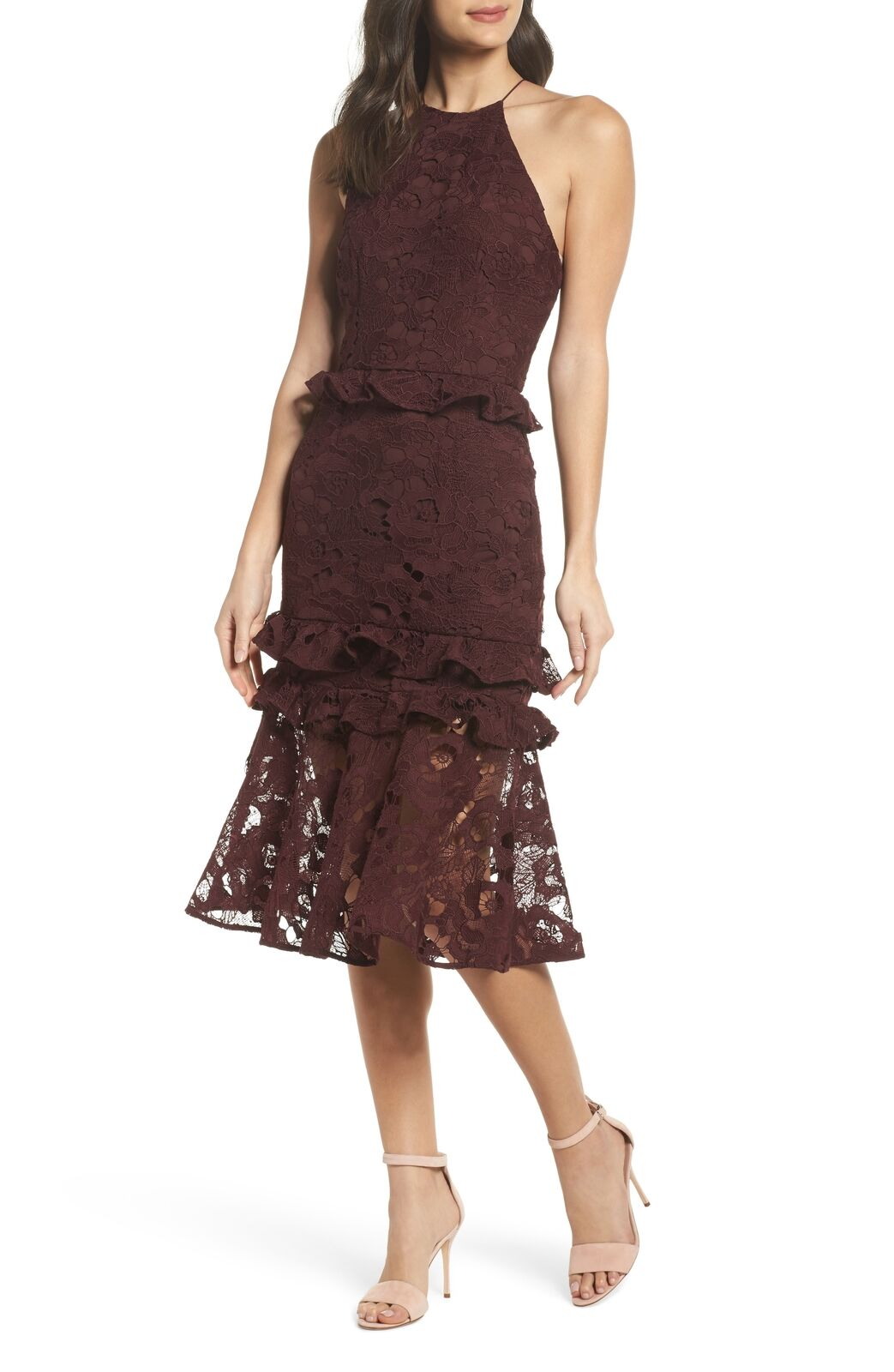 NEW COOPER ST Enchantment Lace Midi DRESS  220 Size US 2 EURO 36 NORDSTROM