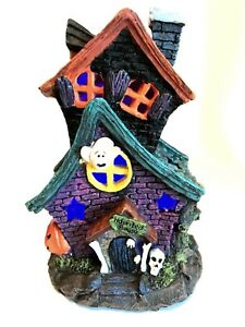 Haunted House Halloween Holiday Decor LED Color Changing Lights 7.5 inches Tall