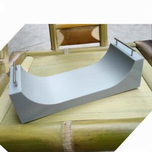 Mini-Fingerboard-Skate-Park-Ramp-Parts-Tech-Deck-Kid-Toy-Skateboard-Grey-Plastic