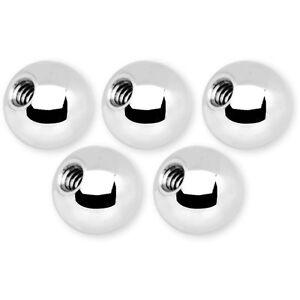 5-Sfere-Palline-Acciaio-Ricambio-Piercing-14G-amp-16G