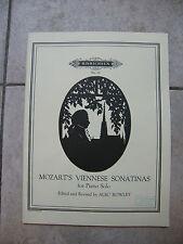 Partitura De Mozart Sonatinas Vienesas Piano Solo Music Sheet