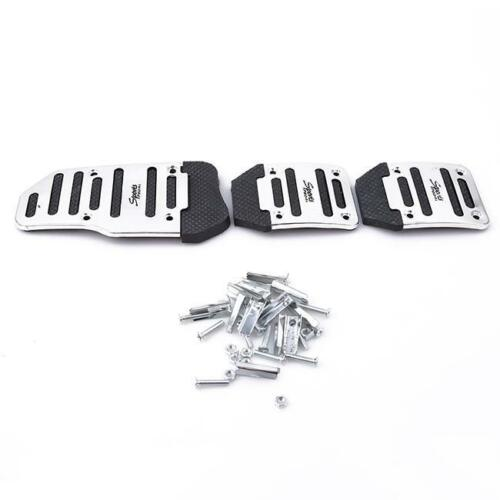 Car Universal Aluminum Manual Transmission Non-Slip Car Pedal Cover Set kit IT