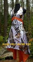 Satin Camo Wedding Dress/gown-hi-low- Short Halter 'maci' Made In The Usa