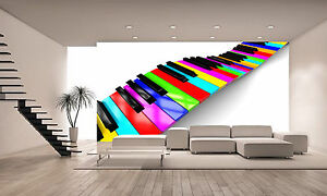 Image Is Loading Colorful Piano Background Wall Mural Wallpaper GIANT WALL