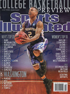 buy online 7074b 10104 Isaiah Thomas Huskies SIGNED Sports Illustrated NL COA! | eBay