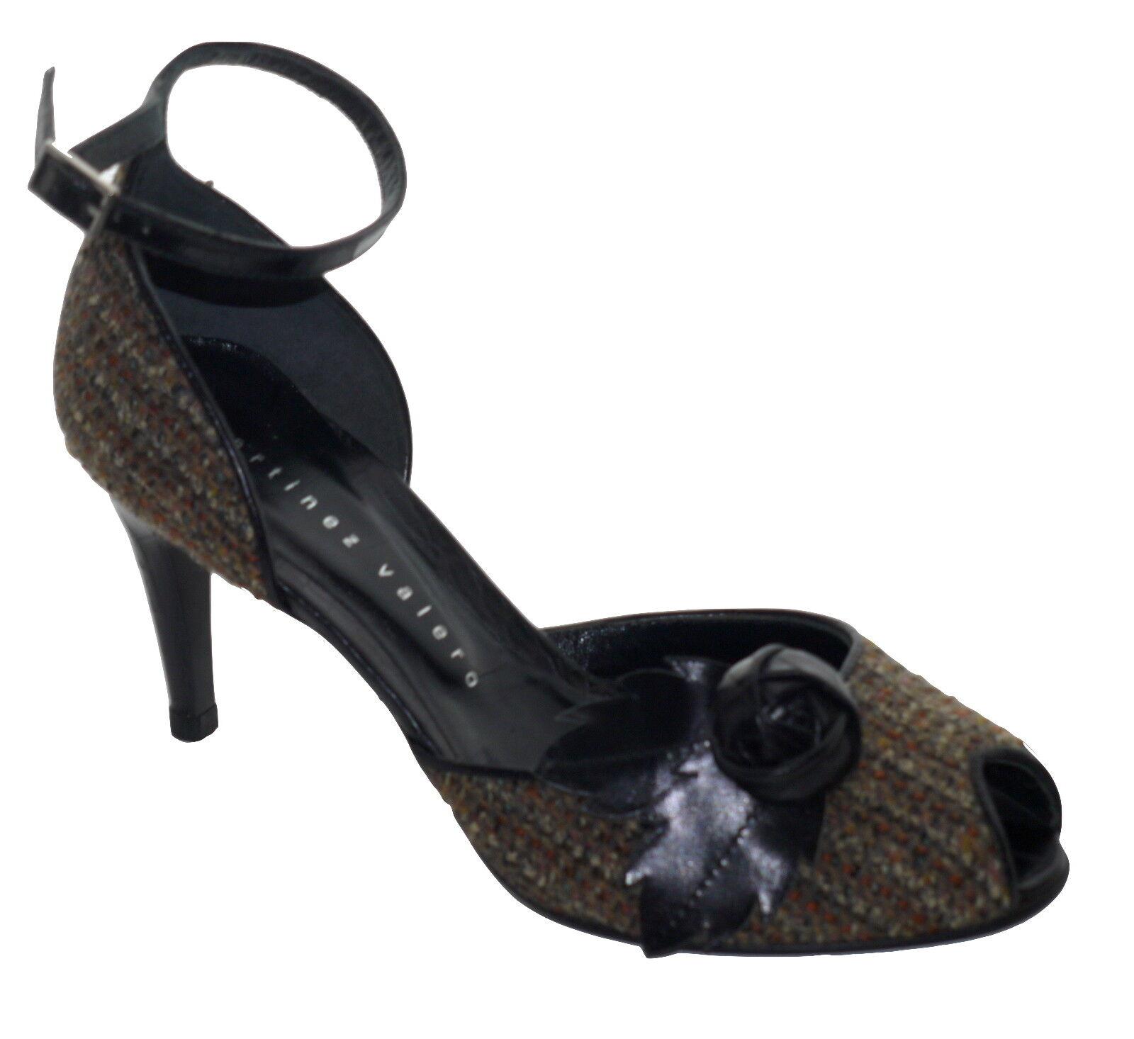 Martinez Valero Tweed Peep Toes Schuhes NIB SP