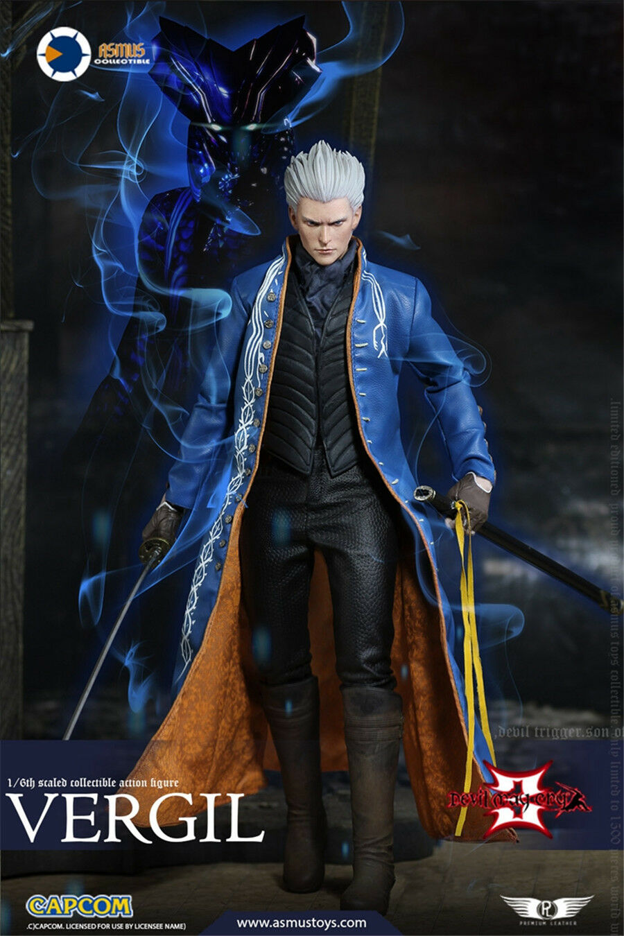 ASMUS TOYS 1/6 DMC002 Devil May Cry 3 Vergil hot action figure toys
