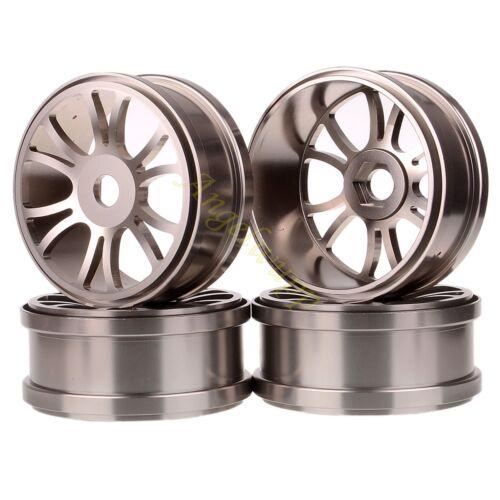 4x RC 1//8 Nitro Brushless Electric Off-Road Buggy 17mm Hub 89mm Metal Wheel Rim