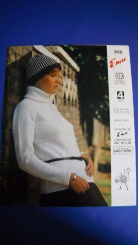 Emu Women/'s sweater Knitting pattern 3140