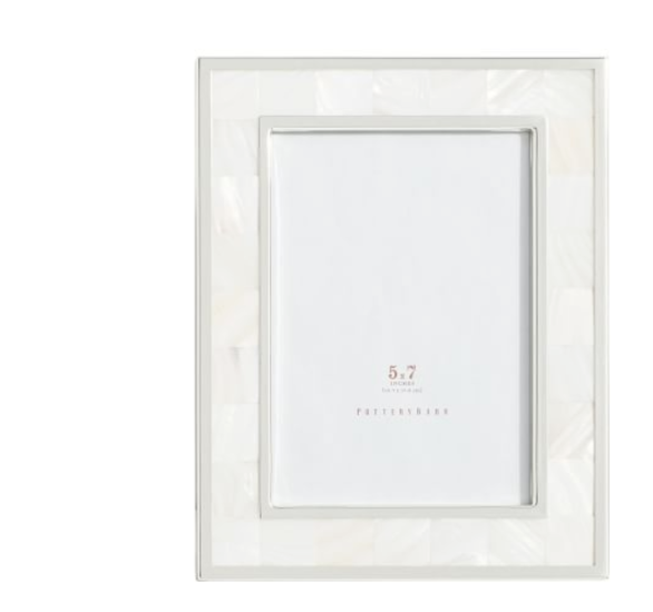 New Pottery Barn Matted Ivory Lacquer Picture Frame For
