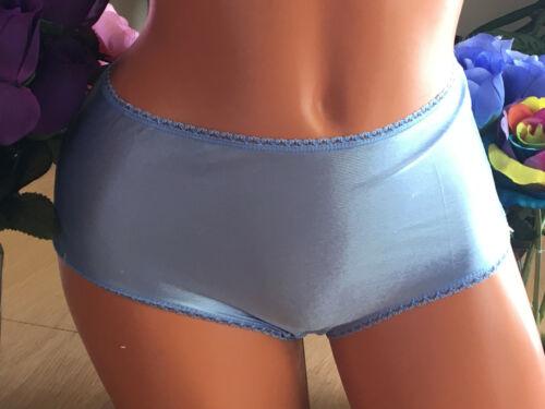 SECRET TREASURE 10//3XL Summer Blue Silky Hi Shine SATIN Brief Sissy Panties NWT