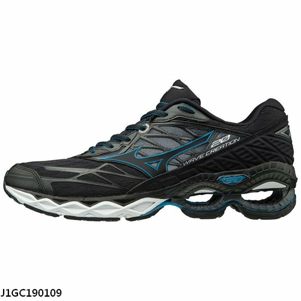 Mizuno Wave Creation 20 nero blu bianca Men Men Men Running scarpe J1GC190109 c84631