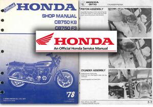 honda cb750 service workshop repair factory manual cb 750 k8 f3 1978