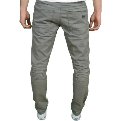 Available in 3 Colours BNWT Crosshatch Men/'s Designer Branded Slim Fit Chinos