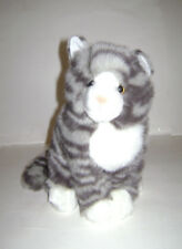 "Douglas The Cuddle Toy 4280 Nickel Gray Stripe Cat 10"" Stuffed Plush RARE"