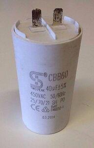 Motor Run Capacitor 40 Uf Mfd 450 Vac 50 60 Hz Cbb60 Ebay