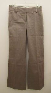 Womens-J-CREW-Light-Brown-Favorite-Fit-Dress-Career-Work-Pants-Size-4-G28