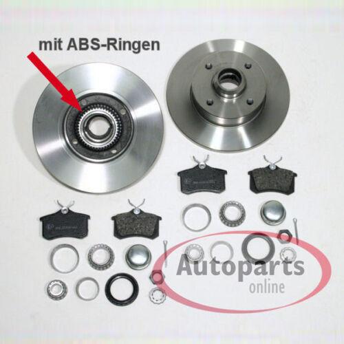 Bremsscheiben Bremsen Set Abs Ringe Beläge für vorne hinten Vw Passat 35i 2.0