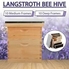 New Listing10 Deep 10 Medium Frames Hive Frame Bee Hive Beehive Wmetal Roof Fhv