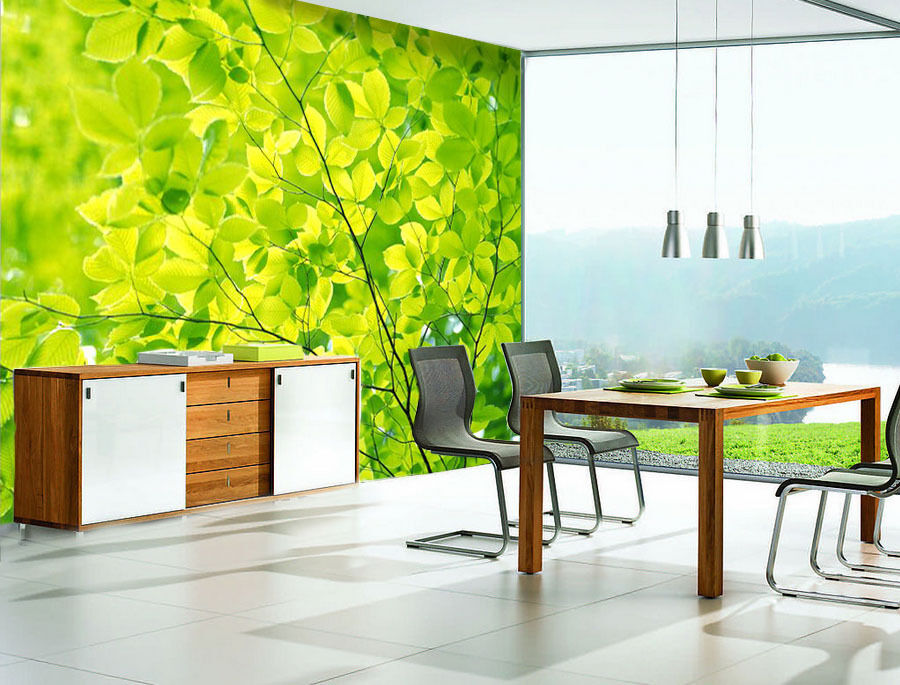 3D Green Land Leaf Nature 5628 Wall Paper Wall Print Decal Wall AJ WALLPAPER CA
