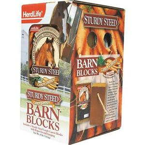 4 Pk 8# Candy Carrot Sturdy Steed Horse Mineral Block 2/Pk 94012