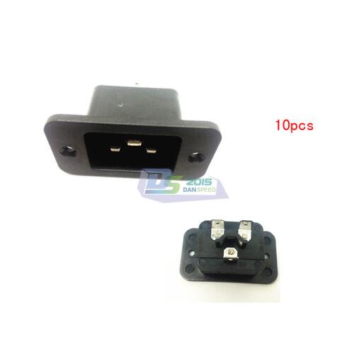 10PC 3P Iec 320 C20 Male Plug Panel PDU//UPS Power Inlet Socket adaptateur convertisseur