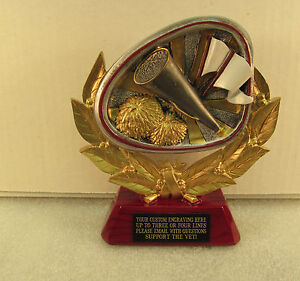 Cheerleading Free Engraving Pom Pon Trophy