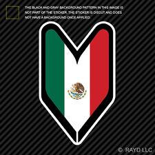 Mexican Driver Badge Sticker Die Cut Decal wakaba leaf soshinoya Mexico MEX MX