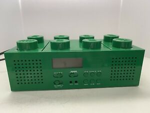 LEGO Green Brick BoomBox AM/FM Radio CD Player Corded/Battery Stereo Music Teste