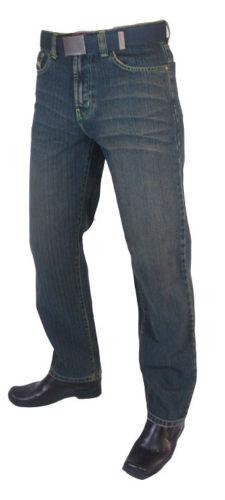 "MEN/'S PREMIUM QUALITY STRAIGHT LEG RUST BLUE BIG SIZE DENIM JEANS W64/"" L30/"""