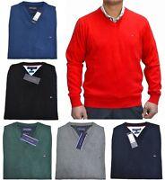 Tommy Hilfiger V-Neck Herren Pullover Premium Cotton Strickpullover UVP 99,90