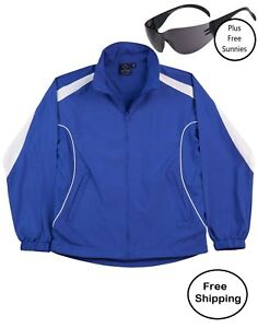 Adult-Warm-Up-Jacket-Tracksuit-Top-ROYAL-BLUE-White-PLUS-free-sunnies