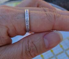 .31ct Art Deco channel set platinum wedding antique band ring 3.8g