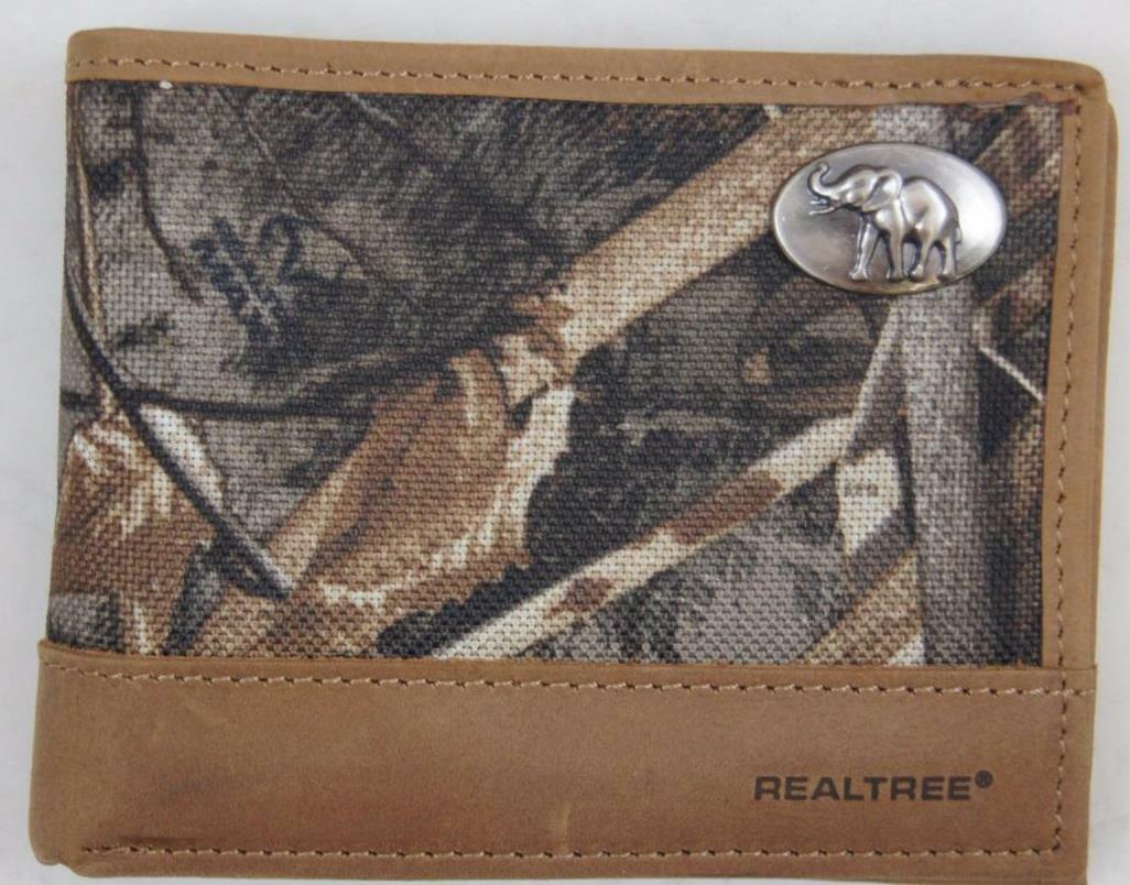 ZEP-PRO Republican Elephant Realtree MAX 5 Camo Bifold WALLET Tin gift Box