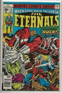 Eternals-14-VF-7-5-Hulk-story-Marvel-Comics-Group-1977-Jack-Kirby-Stan-Lee