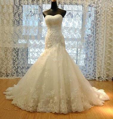 New White ivory Wedding Dress Bridal Gown Custom Size 2-4-6-8-10-12-14-16-18-20+